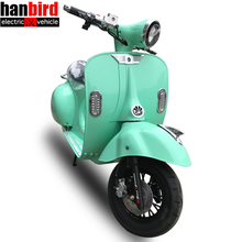 1000w Motor Vintage Vespa hub Electric Scooter with COC