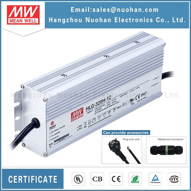 Mean well HLG-320H-12A led power supply waterproof 320W 12V led driver