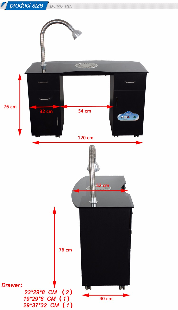Simple design manicure table with ventilation buy for Manicure tables with ventilation