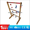 Wooden ladder ball lawn toss golf game set