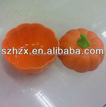 Halloween gift pumpkin box plastic opaque containers for promotion