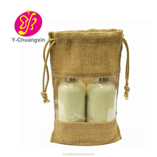 Customized cheap high quality Natural Jute burlap window Bags from China supplier