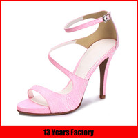 new model shoe/fashion ladies girls high heel sandals pictures/korean shoes