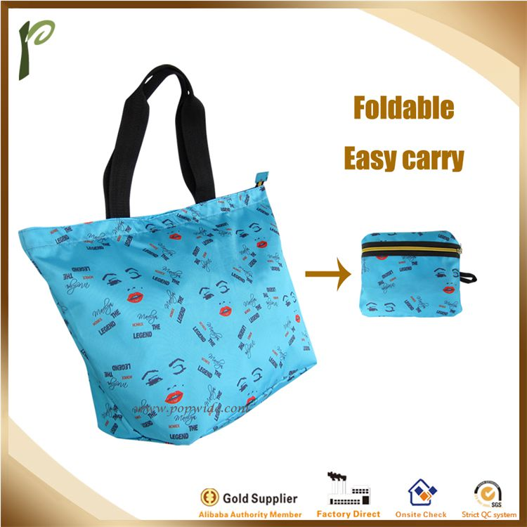 Popwide Polyester Foldable Multi-fuction Tote bag, shopping bag, For trolley case