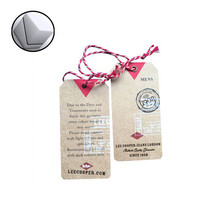 OEM logo customized hang clothing tag