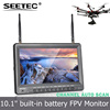 "10.1"" Built-in Battery FPV Monitor 5.8GHz 32 Channels Auto Searching RC Model Airplane Kit"