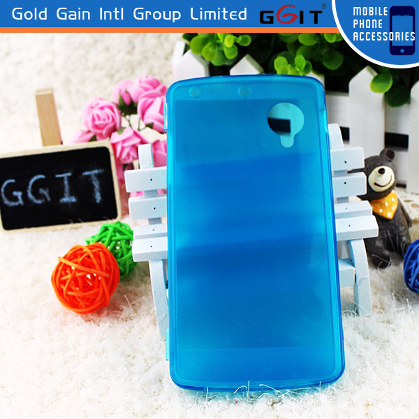 Newest Design Half Transparent View Flip Case For LG Nexus 5 TPU Flip Cover