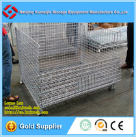 High Loading Capacity Stackable European Folding Bulk Wire Container
