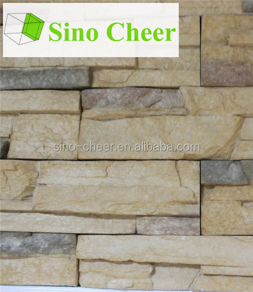 popular artificial rock molds wall decorative stone