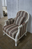 England style beach chair living room baby chair picture with wooden stool