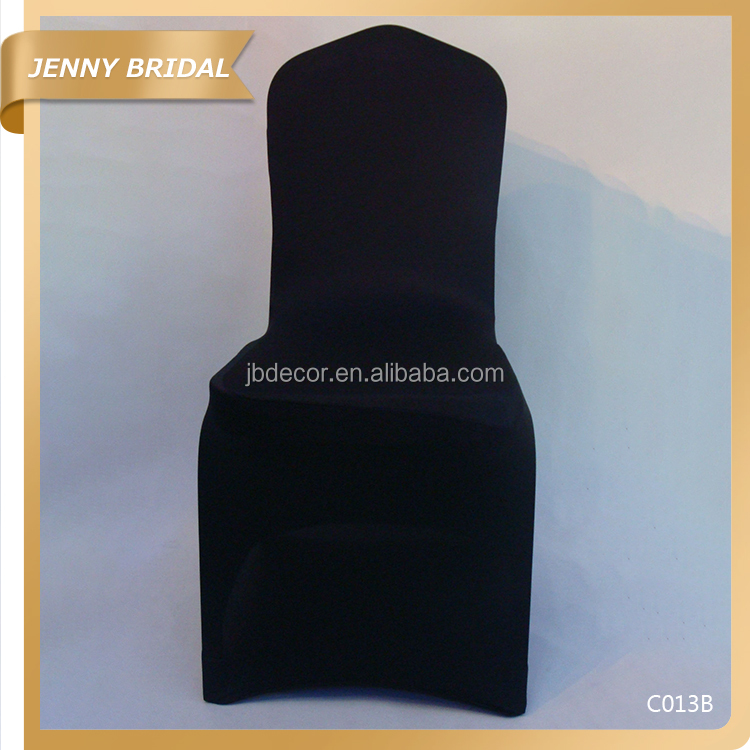 C013 Wholesale black lycra spandex outdoor chair covers