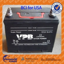 Newest Version BCI Standard Sealed Lead Acid Calcium Starting Maintenance Free Auto/Car Battery