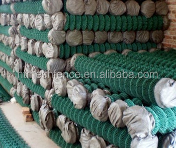 PVC diamond fence / chain link wire mesh /chain wire netting panel fencing
