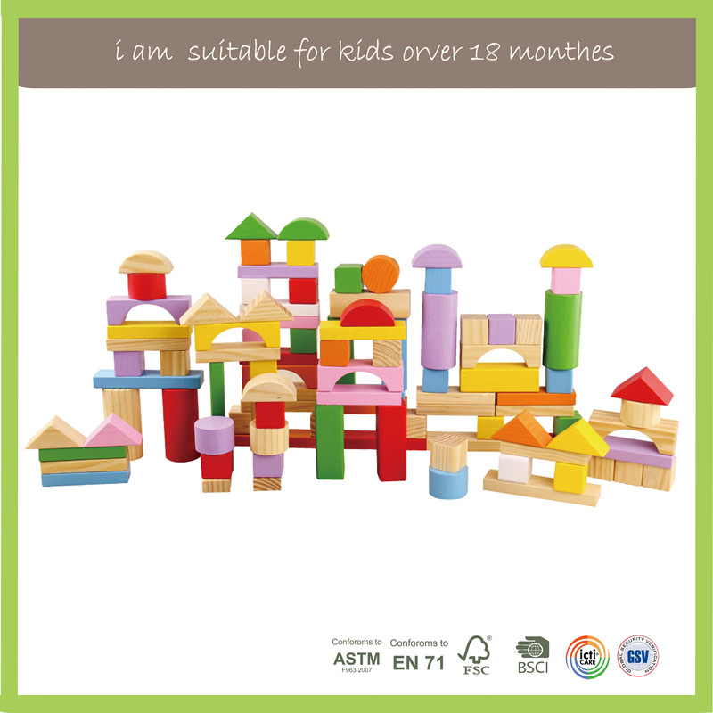 Kids Learning Educational Wooden Building Blocks Toys For Kids