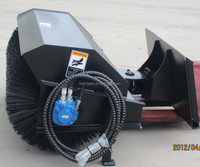 backhoe loader with road sweeper from HCN