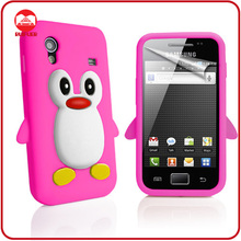 Cute Penguin 3D Animal Shaped Soft Silicone Case for Samsung Galaxy Ace S5830