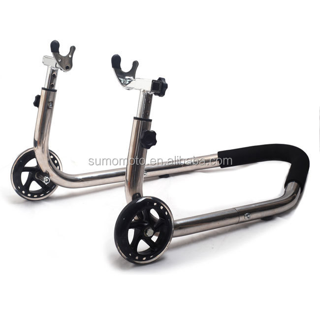 Sumomoto High-end BIG WHEEL Stainless Steel Motorcycle Rear Adjustable Stand