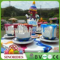 Amusement Park Equipment!Sinorides super cool!! beautiful tea/coffee cup rides rotating amusement rides