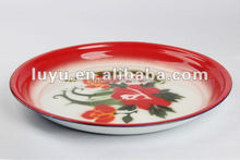High quality enamel fruit tray tea round tray