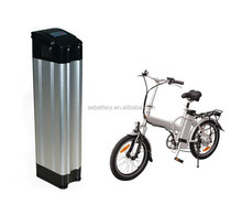Li-ion e-bike 36V 10Ah Lithium ion Electric bike battery silver fish Ebike battery with BMS