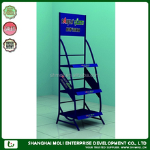 ML-12115 shell oil lock display shelf for retail store