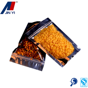 clear plastic packaging custom slide lock zipper bag