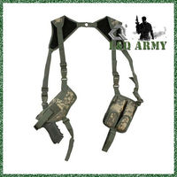 Military Tactical SHOULDER HOLSTER W/ DUAL CLIP POUCH