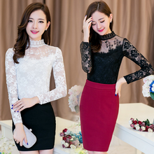 2016 spring new style women shirt ladies elegant lace tops blouses