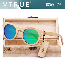 Italian Round Bamboo Sunglasses for Men and Women , Mirror Coating Lense Floating bamboo sunglasses