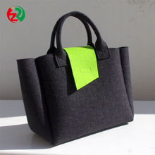 Amazon Best selling top quality popular new design felt shoulder bag for women with lowest MOQ