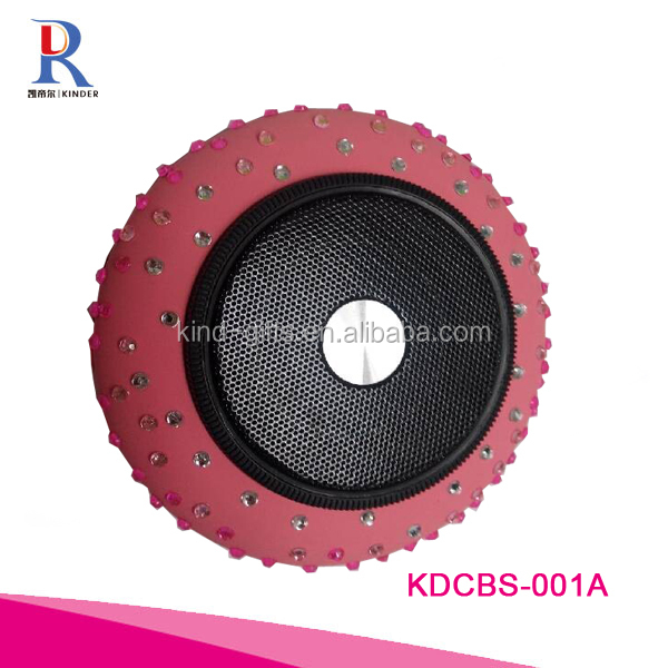 Professional China Black Round Speaker Outdoor Use and Active Type Speaker Bluetooth Speaker