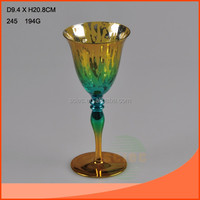 shinning glass goblet for wedding or home decor