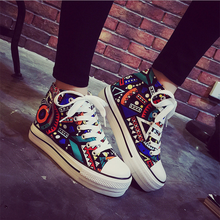 new products 2016 lady fashion shoes women printed casual shoes canvas shoes