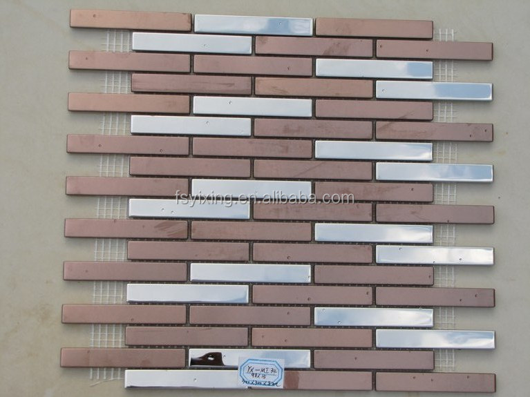 Hot sale aluminium mosaic tile 300*300mm decorative <strong>wall</strong>.