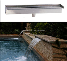 Artificial mini Stainless Steel Waterfall Fountain with led light for pond spa waterfall