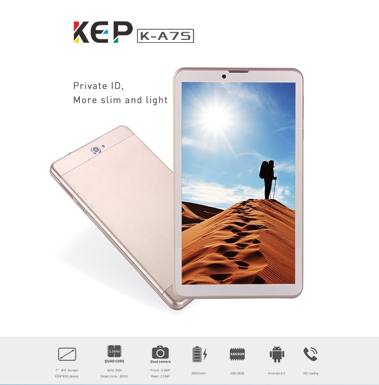 2017 wholesale K-A7s 3G IPS Screen android touch screen 7 inch tablet