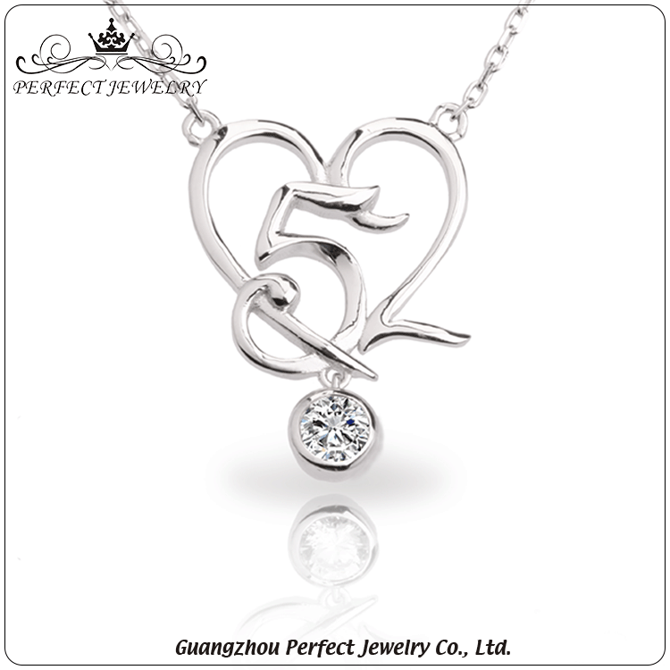 Fashion jewelry 2016 925 sterling silver pendant necklace