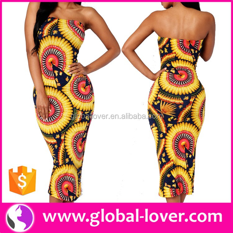 Alibaba supplier fashion dress design sexy african printed dresses