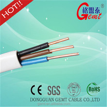 PVC Insulation and Sheath H03VVH2-F H05VV-F Flexible Flat Cable