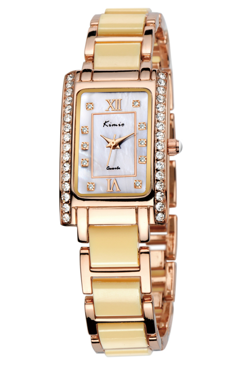 Brand Kimio KW510S square vogue bracelet quartz ladies hand watch
