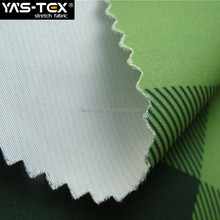 100% Polyester waterproof 4 way stretch color printed fabric