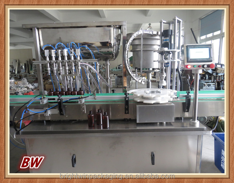 fruit puree bottle filling capping machine with CE ISO9001