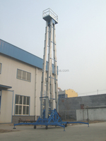 Skyscraping Tower 19m man lift aluminium mast lift hydraulic aerial lift