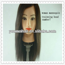 professional long hair styling make up 100%human hair dummy head
