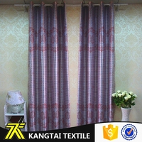 100% polyester high quality printed fabric curtain for living room