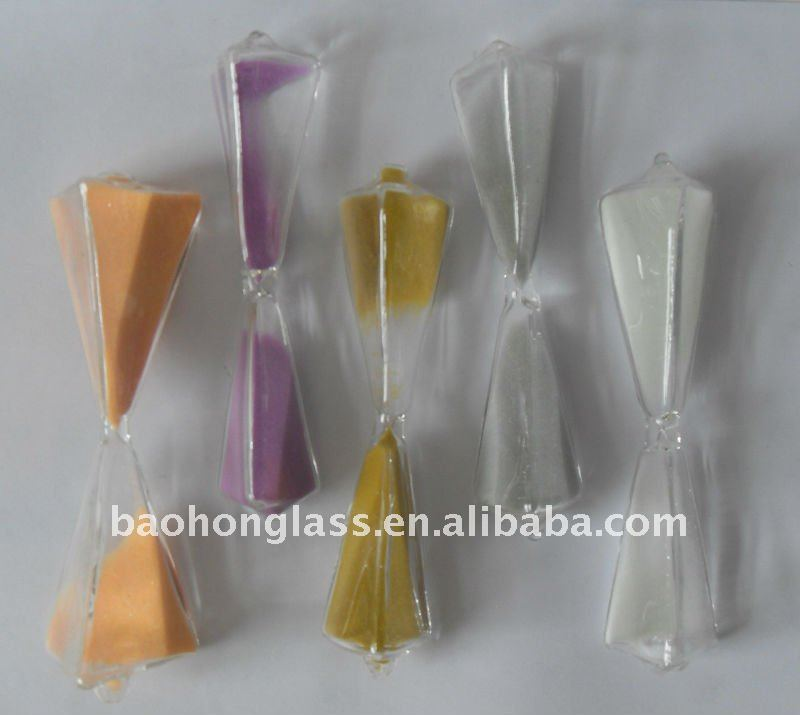 Decorative 5 Minute Special Triangle Glass Part of Sand Timer BG-1111