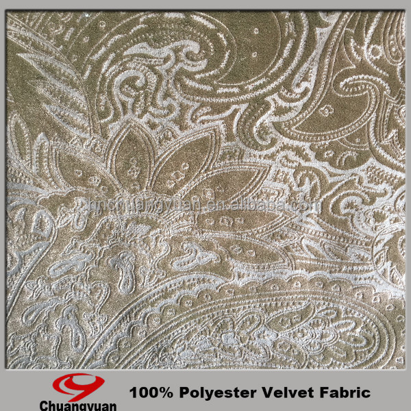 velvet foil printed fabric for sofa textile fabric/ china wholesale product
