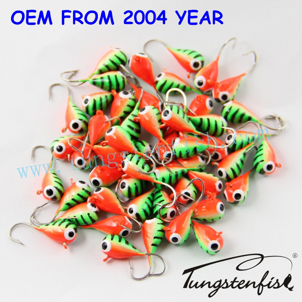 High quality wholesale tungsten ice fishing jigs