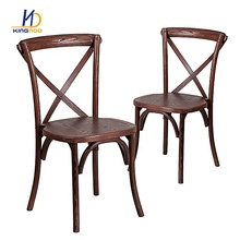 Cross Back Banquet Event Wholesale Wood Wedding Chair