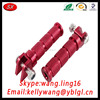 Customized Thread Red Aluminum 6061-T6 Bike Motorcycle Chrome Passenger Footpeg Clevis Male Mount Foot Pegs